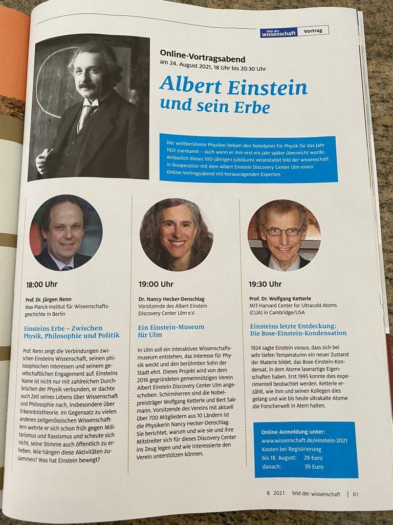 Bild der Wissenschaft: Albert Einstein und sein Erbe